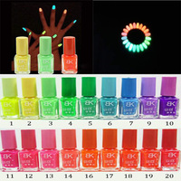 20Colors Popular Luminous Nail Polish nail art / Fluorescent nail Enamel[JC02002*2]