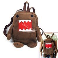 Newest Domo Kun Figure Cartoon Cute Plush Backpack Soft Shoulder Bag School Brown free shipping