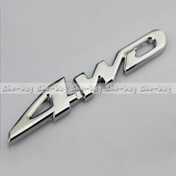 Car Metal Chrome 4WD Displacement Emblem Badge All Wheel Drive Auto sticker Wholesale(China (Mai