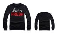 Sorry I'M Fresh Sweatshirt Winter Sports Pullover For Men Cotton Hip Hop Crewneck Cheap Men Clothing