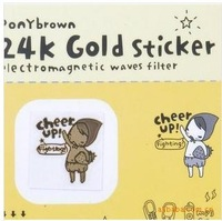 Cartoon Sticker for Cell Phone/Notebook/Diary Book , Gold-plated cell phone radiation protection with random send (H137)