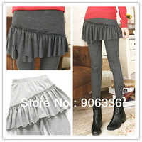 free shipping 2013 new arrival women pure solid leggings with skirts