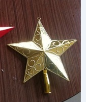 Christmas tree decoration accessories gold 15cm sticky powder paillette crestfallenly tree top star  Free shipping over 5