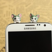 Cheese cat s4  for SAMSUNG   n7100 iphone5  for apple   iphone4 4s plug earphones i9300 dust plug
