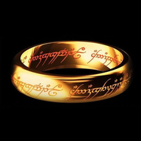 The Lord of the Rings in Solid 18K Yellow Gold Rings for Men Classic Gold Jewelry High Quality Factory Price USA Size 4 to 12