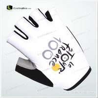 Hot! Hot Cycling Gloves TOUR OF FRANCE ALL TEAMS half finger gloves with  breathable with good design