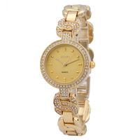 2014 luxury watches for women gold analog watches for ladies girls gift golden wristwatch relogios femininos frete gratis
