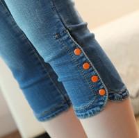 Plus size summer elastic women's capris jeans summer jeans