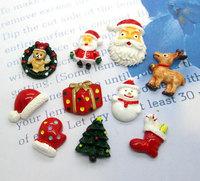 50Pcs Mixed Resin Christmas Gift Series Flatback Cabochon Scrapbook