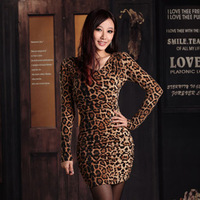 2013 autumn fashion tight slim bag leopard print ol elegant long-sleeve basic one-piece dress