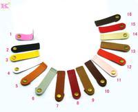 Genuine leather tip hasp diy accessories genuine leather hasp patchwork wallet genuine leather sew-on hasp