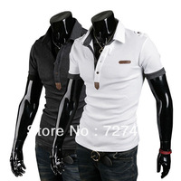 2013 Summer men's short sleeve insignia standard English Lunpi Slim casual men's polo shirt embroidery