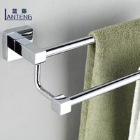 Blue rattan bathroom double towel rack stainless steel alloy bathroom towel hanging bath towel rack