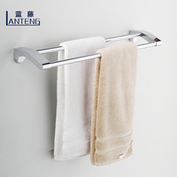 Blue rattan bathroom double towel rack stainless steel alloy copper bathroom accessories