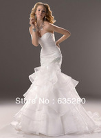 New Elegant Sweetheart Wedding Dresses Mermaid Organza  w119