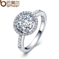 2013 New Arrival Wedding Finger Crystal Rings Platinum Plated with AAA Zircon Stone Nickel Free Silver Jewelry YIR003