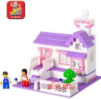0156 blocks pink dream / Sweet Cottage enlightenment children assembled toys Lego compatible