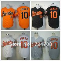 Wholesale-Free Shipping Baseball Jersey Baltimore Orioles #10 Adam Jones Orange /Gray /White /Black Size: M-3XL