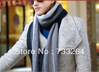 Winter Women Men Scarves Autumn Winter striped cashmere wool scarf men scarves men thick long scarves black grey