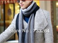 Winter Women Men Scarves Autumn Winter striped cashmere wool scarf men scarves men thick long scarves black grey