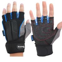 Lightmindedness slip-resistant fitness gloves male semi-finger gloves sports gloves lengthen wrist support