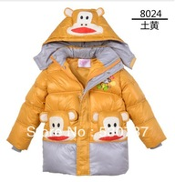 2013 child winter wadded jacket 5 - 11 male child cotton-padded jacket fashion wadded jacket removable hood