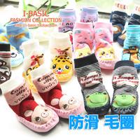 Free Shipping! 100% Cotton Thickening Baby Shoes Socks Warm Home Child Floor Socks Children Slip-Resistant Baby Toddler Socks
