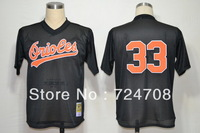 Cheap Baseball Jerseys Baltimore Orioles #33 Eddie Murray M&N throwback Jersey white,black,orange all stitched
