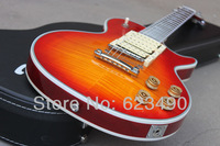Best Price Wholesale Hot Selling Ace Frehley Signature Costom Shop Cherry Sunburst Electric Guitar Free Shippiing With Hard Case