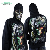 Male outerwear the counterterrorism mask sweatshirt zipper hoodie hiphop loose autumn and winter coat