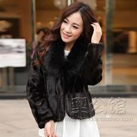 2013 fur coat mink fur overcoat female short design mink fight mink fur wool