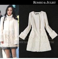 2013 women's clothes outerwear medium-long woolen overcoat