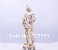 2011 style 3D wooden puzzle model miniature Character warrior knicht-1 toy puzzle  miniature free shipping G-P173