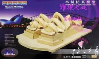 3D wood puzzle wooden model miniature dollhouse model toy free shipping OPERA HOUSE