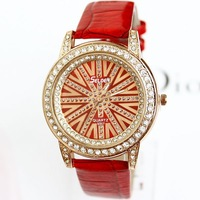 Watches Diamond Luxury Leather Clock Women Two Side Fashion Charm Rhinestone Wholesale Dropship Free Shipping PU  Rolland