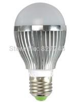 Wholesale color silver E27 e27 base Taiwan ship led smd 5*1w 5w LED Bulbs ac85-265V Aluminum LED Bubble Ball Bulb home lighting
