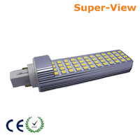 Free shipping 10W 48 LED SMD 5050 Cool White Light Bulb Lamp 220V G24 Base