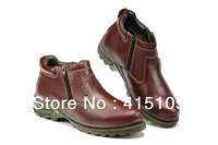 2013 Winter men's leather shoes with fur warm flats for men lace up high quality boots low top genuine leather fashion oxford