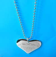 Min order is 15 u.s.d.,(can mix order), new silver heart  necklace -319