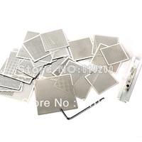 Free shipping New 29 pcs/set BGA Universal Stencil Directly Heating Stencils+BGA reballing station BGA Reball Kit