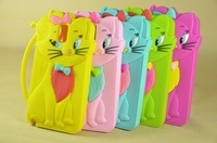 Free shipping New Arrivals 3D tom cat case silicon back cover for samsung Galaxy note3 N9000,MOQ:1pcs