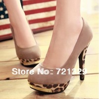 high heels sexy women Leopard  bottom pumps high heels shoes, Green, black , khaki  shoes
