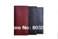 Fashion Genuine Cowhide Leather Man Wallets Soft Leather Long Design Male Purse, 3 Colors to Choose,Free Shipping Men Wallets