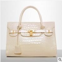 0690 Free Shipping!2013 New Women's handbag light fashion bag crocodile pattern handbag messenger bag