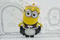 Wholesale Hot sale Fashion Cartoon New Minions Despicable Me 2, 1-32GB USB 2.0 Flash Memory Stick Drive Thumb/Car/Pen Gift