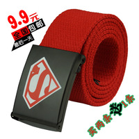 Free Shipping New Arrival 2013 Superman Canvas Belt Trousers All-match Belt Strap