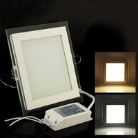 Free shipping 85-265v Square 9W/15W High Brightness LED Ceiling panel  Light White/Warm White LED Down Light Wholesase