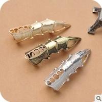 Punk Fashion  False Animal Claw Paw Talon Joint Nail Alloy Gothic Finger Ring Wholesale
