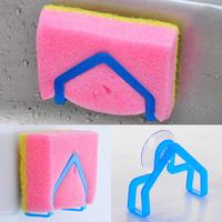 Min. order is $10(mix order) Wash cloth rack suction cup sponge holder clip dishclout storage rack e020
