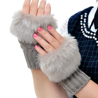Gentlewomen all-match faux line gloves winter thermal lucy refers to semi-finger g114 winter gloves
